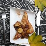 Franču grauzdiņi ar banāniem un riekstiem