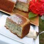 Magoņu kūka ar citronu glazūru