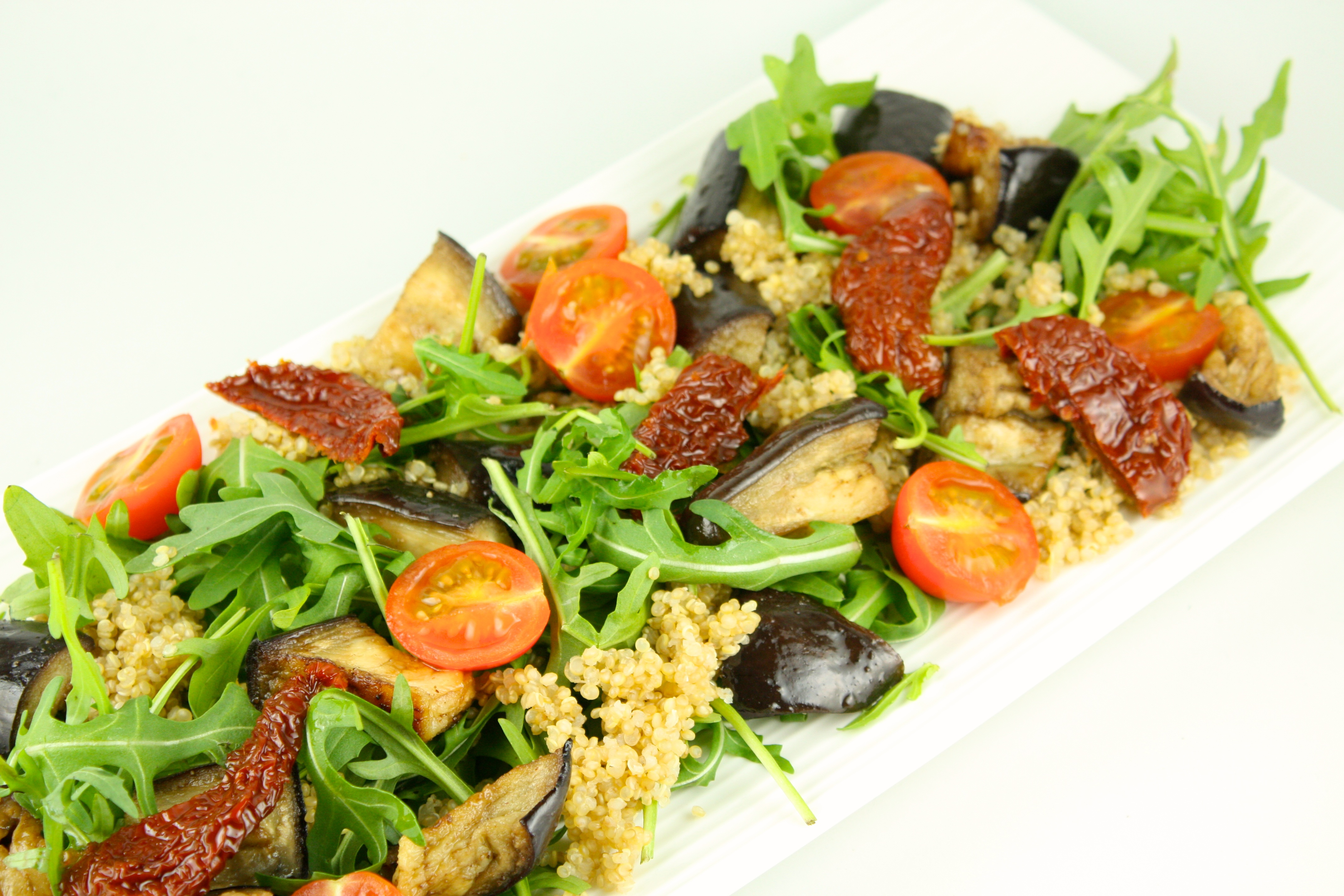 Baklazanu salati ar kvinoju