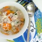 Vistas un rīsu zupa