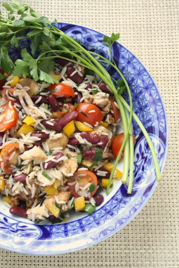 Rīsu un pupiņu salāti - 0