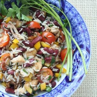 Rīsu un pupiņu salāti - 17