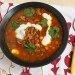 Ātrā marokāņu gaļas zupa 'harira'