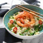 Ķīniešu rīsi ar garnelēm