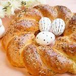 Svētku kliņģeris ar siera un gaļas pildījumu
