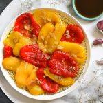 Grilēta un sojas mērcē marinēta paprika