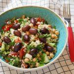Auna (turku) zirņu salāti ar olīvām