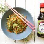 Aukstie japāņu nūdeļu salāti (bez glutēna)