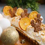 Piparkūku un apelsīnu krēma tarte